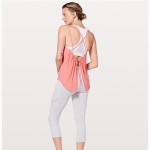 Lululemon Such a Cinch workout tank 12 light coral